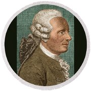 Jean Le Rond Dalembert, French Polymath Round Beach Towel