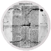 Jefferson: Inauguration Round Beach Towel