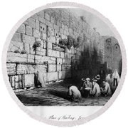 Jerusalem: Wailing Wall Round Beach Towel