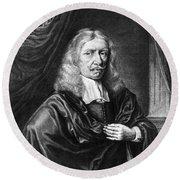 Johannes Hevelius, Polish Astronomer Round Beach Towel by Science Source