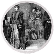John Knox (1505-1572) Round Beach Towel
