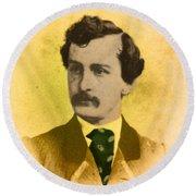 John Wilkes Booth, American Assassin Round Beach Towel