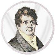 Joseph Fourier, French Mathematician Round Beach Towel