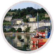 Kinsale Harbour, Co Cork, Ireland Round Beach Towel