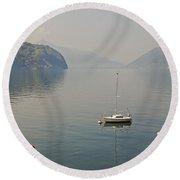 Lago Di Lugano Round Beach Towel by Joana Kruse