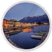 Lake Maggiore - Ascona Round Beach Towel