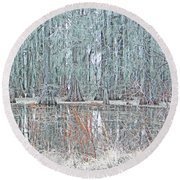 Lake Martin Swamp Round Beach Towel