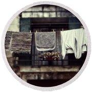 Laundry Round Beach Towel by Joana Kruse
