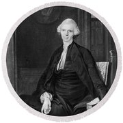 Laurence Sterne (1713-1768) Round Beach Towel
