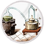 Lavoisiers Apparatus To Study Air Round Beach Towel