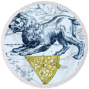 Leo, The Hevelius Firmamentum, 1690 Round Beach Towel by Science Source
