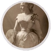 Lillie Langtry (1852-1929) Round Beach Towel