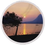 Lough Gill, Co Sligo, Ireland Irish Round Beach Towel