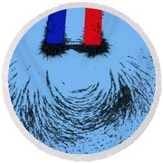Magnetic Attraction Round Beach Towel