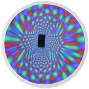 Magnetic Fields Round Beach Towel