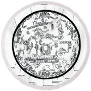 Mayan Cosmos Round Beach Towel by Science Source