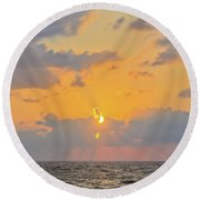 Mediterranean Sunset Round Beach Towel