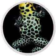 Mimic Poison Frog Round Beach Towel