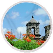 Mission San Jose San Antonio Round Beach Towel