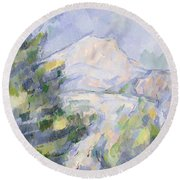 Mont Sainte-victoire Round Beach Towel by Paul Cezanne