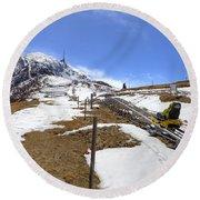 Monte Tamaro - Alpe Foppa - Ticino - Switzerland Round Beach Towel by Joana Kruse