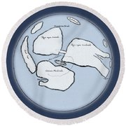 Moon Map By William Gilbert, 1603 Round Beach Towel by Science Source