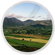 Mourne Mountains, Co. Down, Ireland Round Beach Towel
