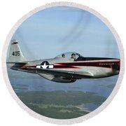 North American P-51 Cavalier Mustang Round Beach Towel