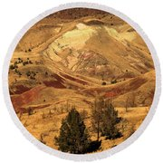 Painted Landscape Round Beach Towel
