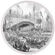 Paris Exposition, 1855 Round Beach Towel