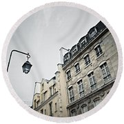 Paris Street Round Beach Towel