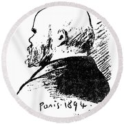 Paul Verlaine (1844-1896) Round Beach Towel