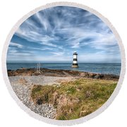 Penmon Point Round Beach Towel