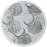 Phases Of An Eclipse Round Beach Towel by Science Source