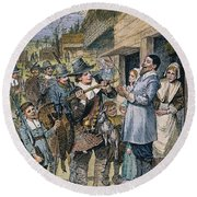 Pilgrims: Thanksgiving, 1621 Round Beach Towel