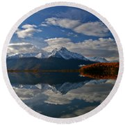 Pioneer Peak Round Beach Towel