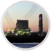 Power Station Round Beach Towel