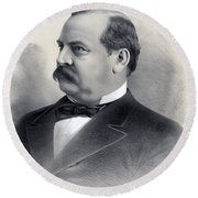 President Grover Cleveland Round Beach Towel by International  Images