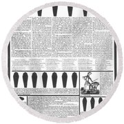 Presidential Campaign, 1828 Round Beach Towel