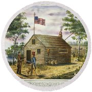 Presidential Campaign, 1840 Round Beach Towel