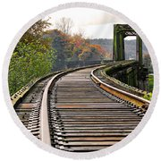 Railway Track Round Beach Towel