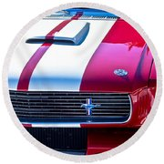Red 1966 Ford Mustang Shelby Round Beach Towel