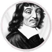 Ren� Descartes, French Polymath Round Beach Towel