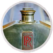 Rolls-royce Hood Ornament Round Beach Towel
