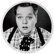 Roscoe Fatty Arbuckle Round Beach Towel