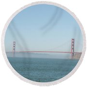 San Francisco Harbour Round Beach Towel