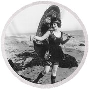 Silent Still: Bather Round Beach Towel