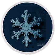 Snow Crystal Round Beach Towel