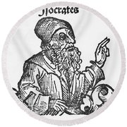 Socrates, Greek-athenian Philosopher Round Beach Towel