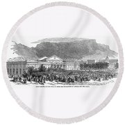 South Africa: Cape Town Round Beach Towel